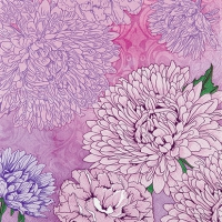 Servietten 25x25 cm - Pure and Strong lilac