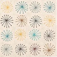 Servietten 25x25 cm - Seedhead Pattern