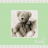 Servietten 25x25 cm - Baby light green
