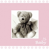 Servietten 25x25 cm - Baby Rose
