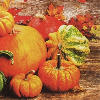 Servietten 25x25 cm - Pumpkins