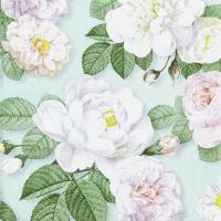 Servietten 25x25 cm - La Rosa mint