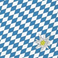 Servietten 33x33 cm - Edelweiss Bayern