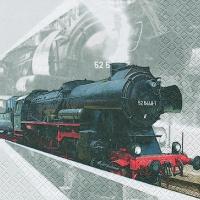 Servietten 33x33 cm - Lokomotive