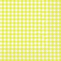 Servietten 33x33 cm - Karo gelb