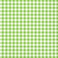 Servietten 33x33 cm - Karo grün
