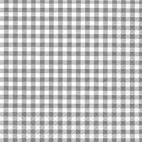 Servietten 33x33 cm - Karo grau