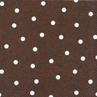Servietten 33x33 cm - Punkte brown