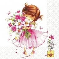 Servietten 33x33 cm - Little Princess