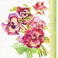 Lunch Servietten Painted Pansy