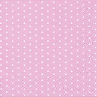 Servietten 33x33 cm - Mini Dots rose