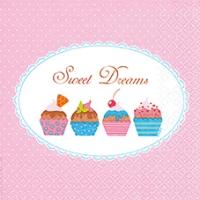 Servietten 33x33 cm - Süße Cupcakes