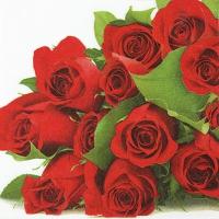 Servietten 33x33 cm - Bunch of Roses