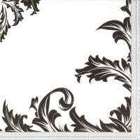 Servietten 33x33 cm - Luxury black/silver