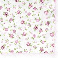 Servietten 33x33 cm - Mille Fleurs rose