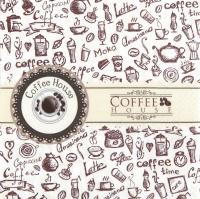 Servietten 33x33 cm - Coffee House