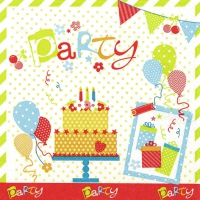 Servietten 33x33 cm - Party Party Party
