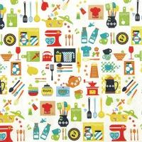 Servietten 33x33 cm - Kitchen Mix