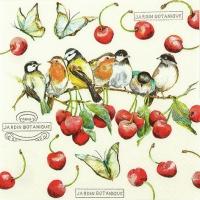 Servietten 33x33 cm - Cherry Birds