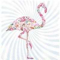 Servietten 33x33 cm - Flamingo