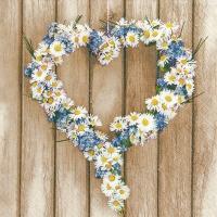 Servietten 33x33 cm - Daisy Hearts