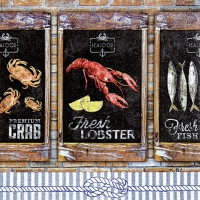Lunch Servietten Seafood