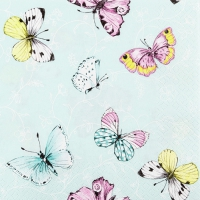 Servietten 33x33 cm - Sweet Papillons