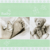 Servietten 33x33 cm - Baby light green