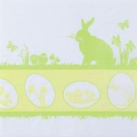 Servietten 33x33 cm - Easter Silhouette