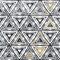 Servietten 33x33 cm - Dreiecke schwarz