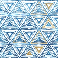 Servietten 33x33 cm - Triangles blue