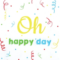 Servietten 33x33 cm - Oh Happy Day