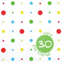 Servietten 33x33 cm - Happy 30