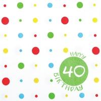 Servietten 33x33 cm - Happy 40
