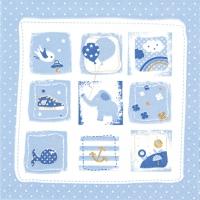 Servietten 33x33 cm - Little One blue
