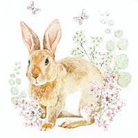 Servietten 33x33 cm - Rosi Rabbit