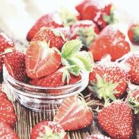Servietten 33x33 cm - Tasty Strawberries