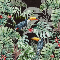Servietten 33x33 cm - Welcome to the Jungle dark