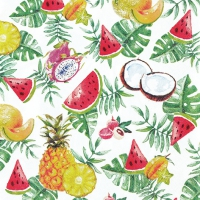 Servietten 33x33 cm - Exotic Fruits