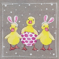 Servietten 33x33 cm - Funny Ducklings