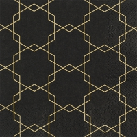 Servietten 33x33 cm - Art deco black