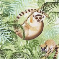 Servietten 33x33 cm - Lemurs