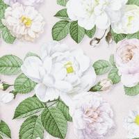 Servietten 33x33 cm - La Rosa rose