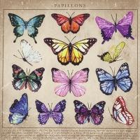 Servietten 33x33 cm - Papillons