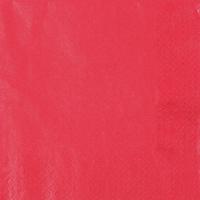 Servietten 33x33 cm - Perleffekt rot rot