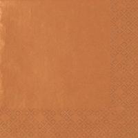 Servietten 33x33 cm - Perleffekt Kupfer kupfer
