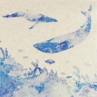 Servietten 33x33 cm - Whales