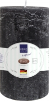 Stumpenkerze Rustik schwarz