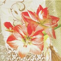 Servietten 25x25 cm - Edle Amaryllis
