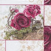 Servietten 25x25 cm - Frozen Roses